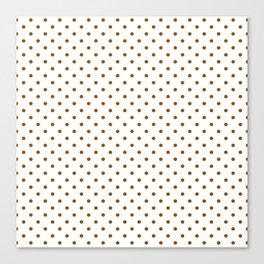 Dots (Brown/White) Canvas Print