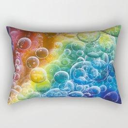Rainbow of Impact Bubbles Rectangular Pillow