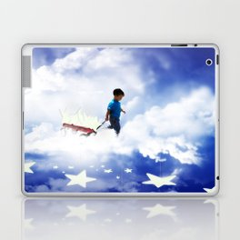 Star Boy Pulling Little Red Wagon Laptop & iPad Skin