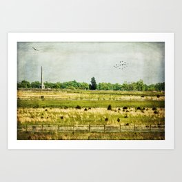 Monuments and Fences Art Print