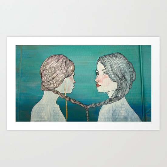örgü / braid Art Print