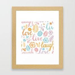 Lovely lettering gentle print Framed Art Print
