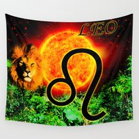 leo Wall Tapestries featuring Leo by LBH Dezines