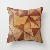 brown Throw Pillows featuring Brown by jbjart