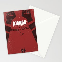 Django Unchained, Quentin Tarantino, minimalist movie poster, Leonardo DiCaprio, spaghetti western Stationery Cards