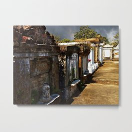 Lafayette Cemetery - Graves and Gray Sky Metal Print