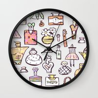 perfume Wall Clocks featuring Perfume  by Maddy Vian