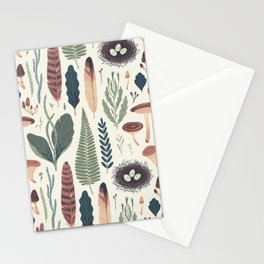 Forest Fall Pattern Stationery Cards
