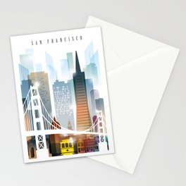 City of San Francisco painting Stationery Cards