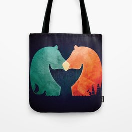 A Tail of Two Horses Tote Bag