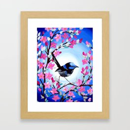 Superb Fairy Wren Framed Art Print