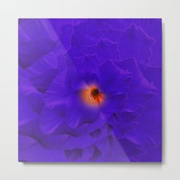 Sword Flower Purple Multiply Metal Print