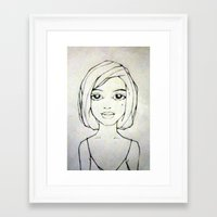 silent Framed Art Prints featuring silent by pixelplasma
