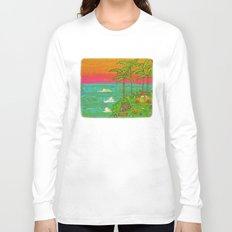 VW Beatle Bug Surf Paradise Adventure Long Sleeve T-shirt