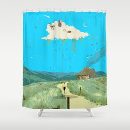 DREAMING IN FOOTHILLS Shower Curtain