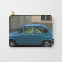 Fish Driving Blue Car Surreal Collage Carry-All Pouch