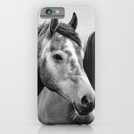 Horses - Black & White 3 iPhone Case