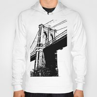 brooklyn bridge Hoodies featuring Brooklyn Bridge by Massimiliano Bertozzi
