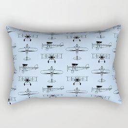 Biplanes // Light Blue Rectangular Pillow