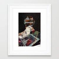 allyson johnson Framed Art Prints featuring Johnson by Briana Finegan