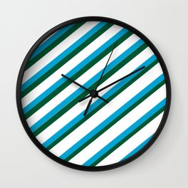 TEAM COLORS 1...LIGHT BLUE,GREEN Wall Clock