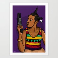 mcfreshcreates Art Prints featuring Loc'd Out by McfreshCreates