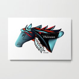 """Warrior"" Metal Print"