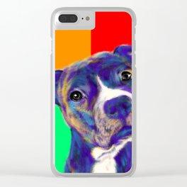 Staffy - Pop Art Clear iPhone Case