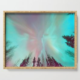 Deep Pastel Aurora Borealis Serving Tray