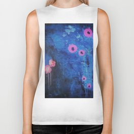 Downright Blue. From my Original Painting by Jodilynpaintings. Blue, Abstract Biker Tank