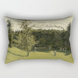 Train in the Countryside Rectangular Pillow