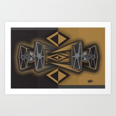 Golden Fighters Art Print