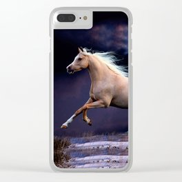 horse galloping Clear iPhone Case