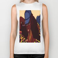 coco Biker Tanks featuring Coco by Courtney Ladybug Johnson