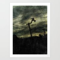 hunting Art Prints featuring Hunting by Matthew Dunn