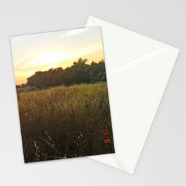 Wheat sunset Stationery Cards