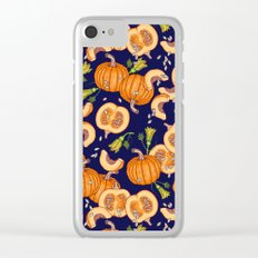 Pumpkin night life Pattern Clear iPhone Case