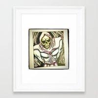 skeletor Framed Art Prints featuring skeletor by JaclynGarrett