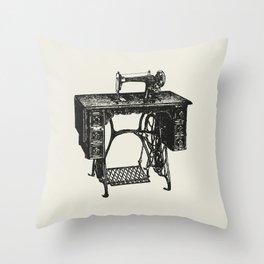 Singer sewing machine Throw Pillow