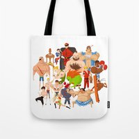 street fighter Tote Bags featuring Street Fighter by Peerro