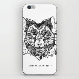 Learn To Speak Wolf iPhone Skin