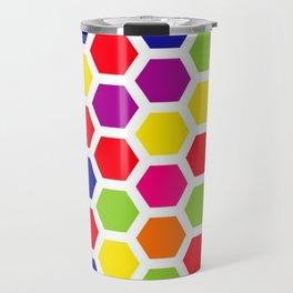 Color Honeycombs Travel Mug