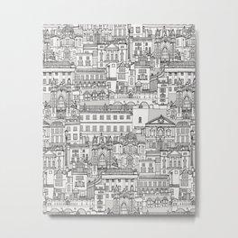 Bath toile black silver Metal Print