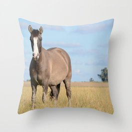 horse by Soledad Lorieto Throw Pillow