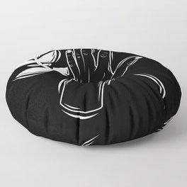 Growing pains black Floor Pillow