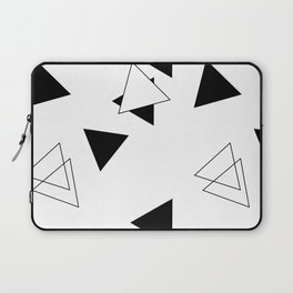 Modern Black Triangles Laptop Sleeve