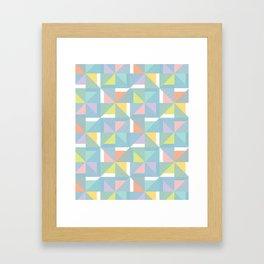 pinwheels - blue Framed Art Print