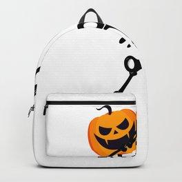 Dabbing Dab Skeleton Pumpkin Halloween Funny Backpack