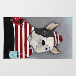 Waldo the Boston Terrier Rug