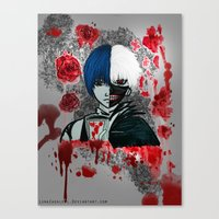 tokyo ghoul Canvas Prints featuring Tokyo Ghoul by Lunah